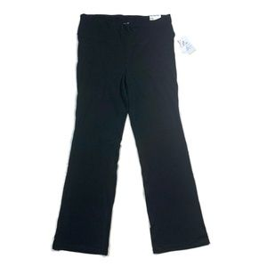 Old Navy Knit Pants Slim Boot Cut High Black